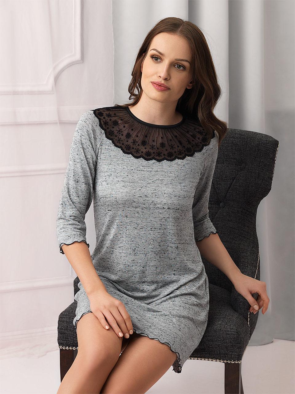 FD / Snowflake 2823 Camicia da notte<br />59 Cream / Black Thread, 60 Grey / Black Thread