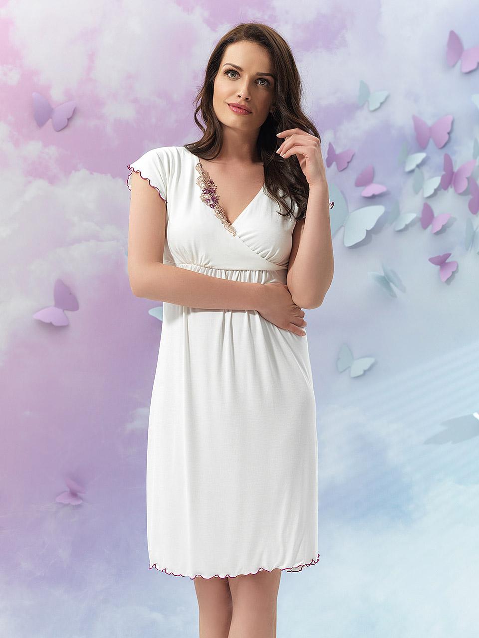 Flori 2903 Camicia da notte<br />01 Ivory, 18 Light Rose, 28 Cappuccino, 39 Lilac