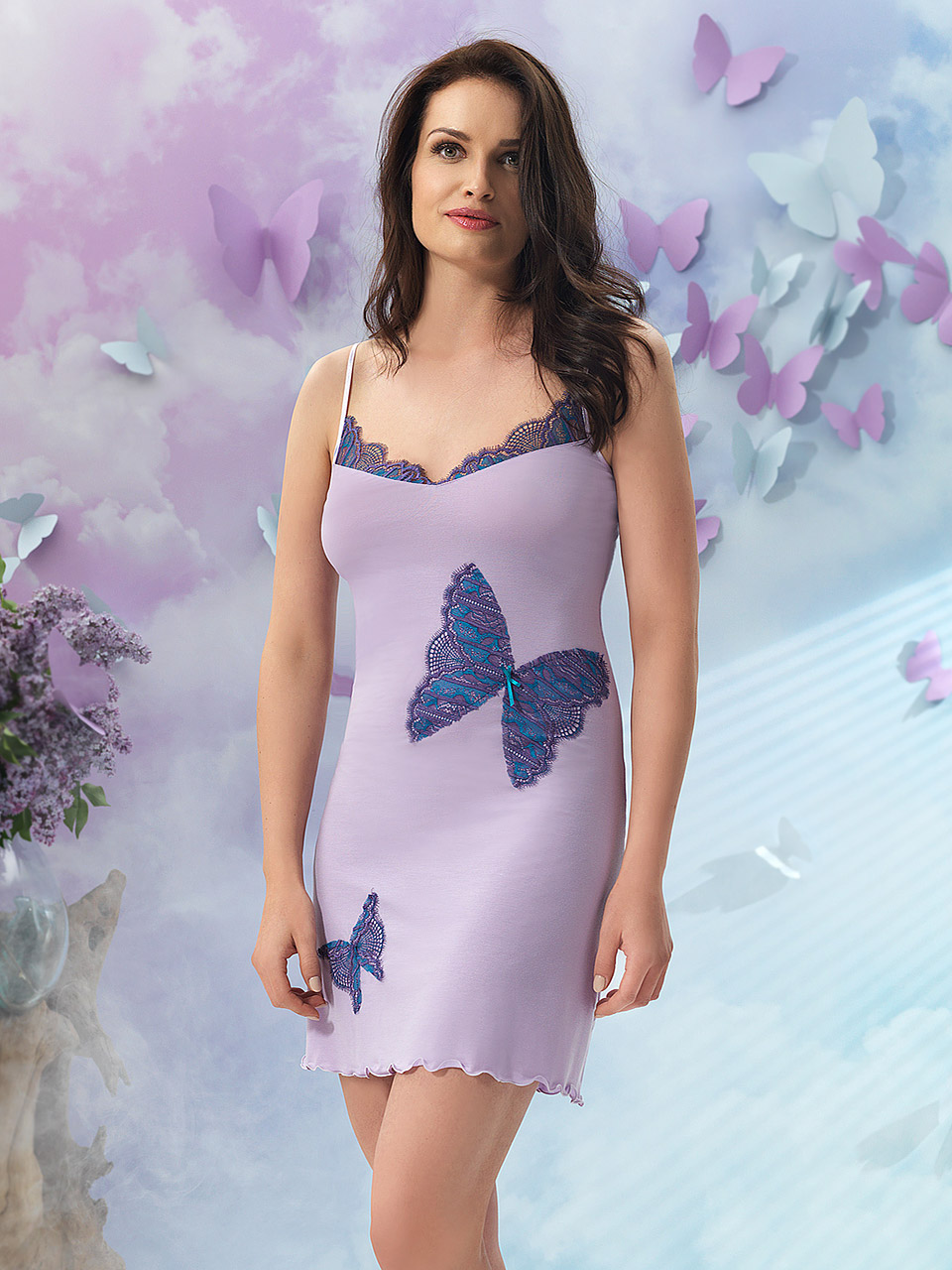 Butterfly 2906 Chemise<br />16 Cobalt, 39 Lilac