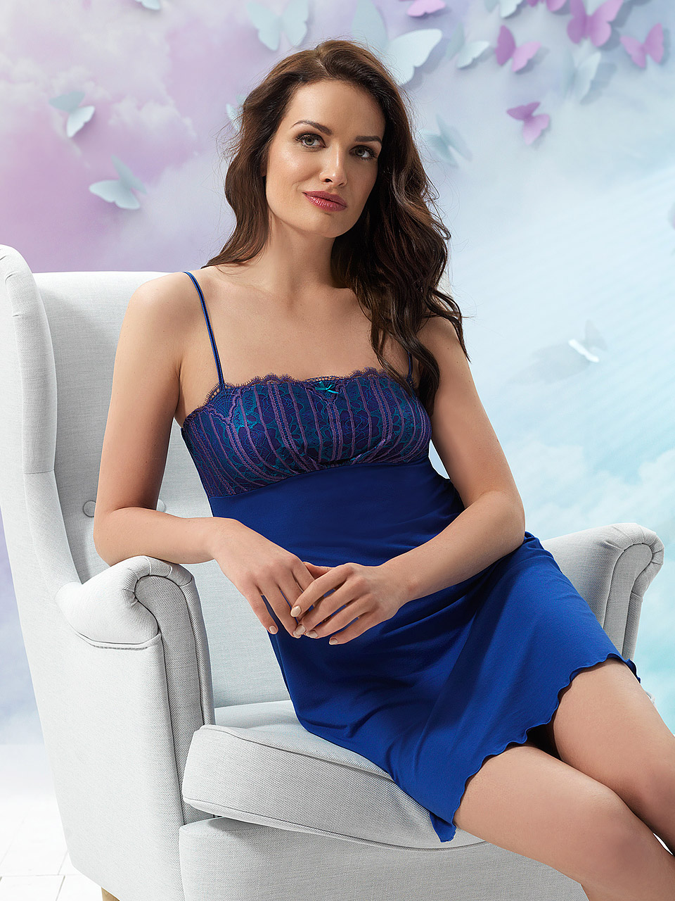 Butterfly 2907 Chemise<br />16 Cobalt, 39 Lilac