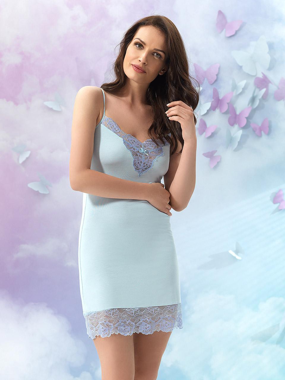 Natalie 2926 Chemise<br />20 Light Blue, 38 Lavender, 55 Pearl