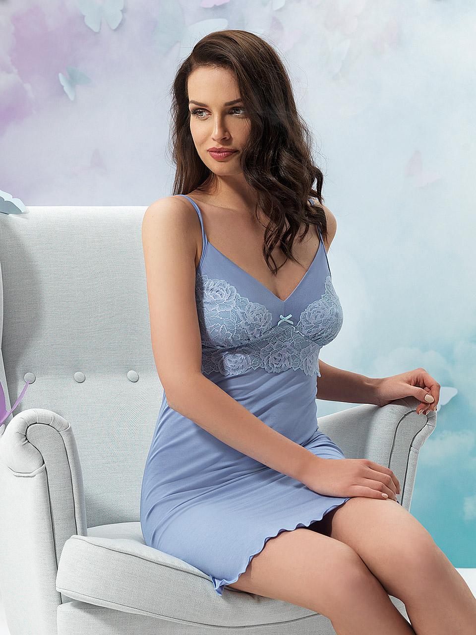Natalie 2927 Chemise<br />20 Light Blue, 38 Lavender, 55 Pearl