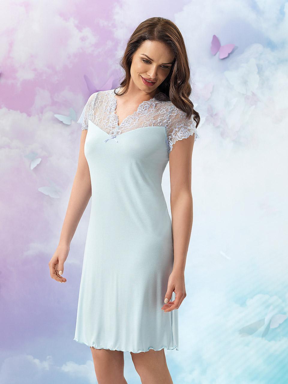 Natalie 2928 Camicia da notte<br />20 Light Blue, 38 Lavender, 55 Pearl