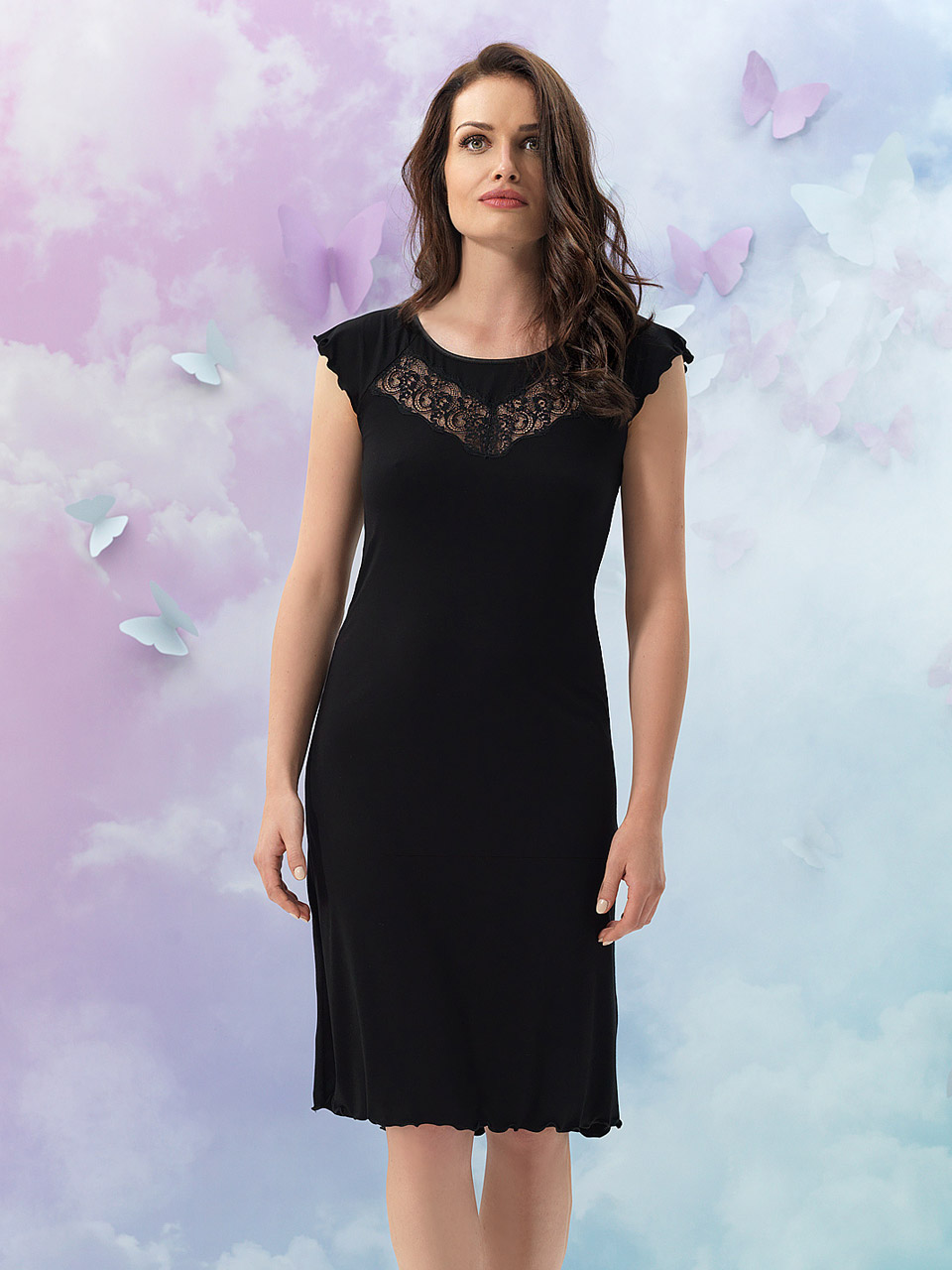 Leila 2940 Camicia da notte<br />01 Ivory, 02 Black, 55 Pearl
