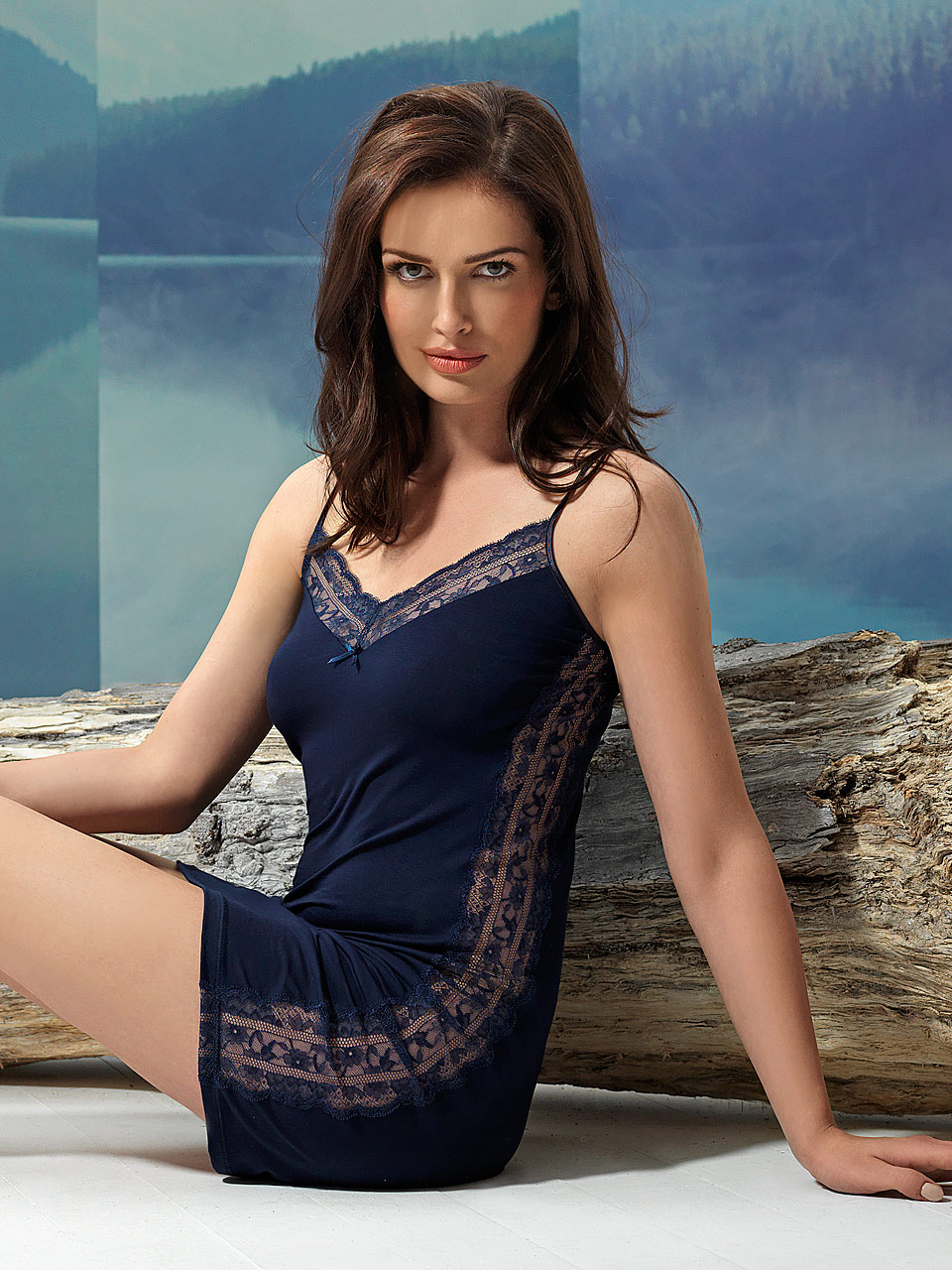 Sparkle 2942 Chemise<br />03 Navy Blue, 55 Pearl