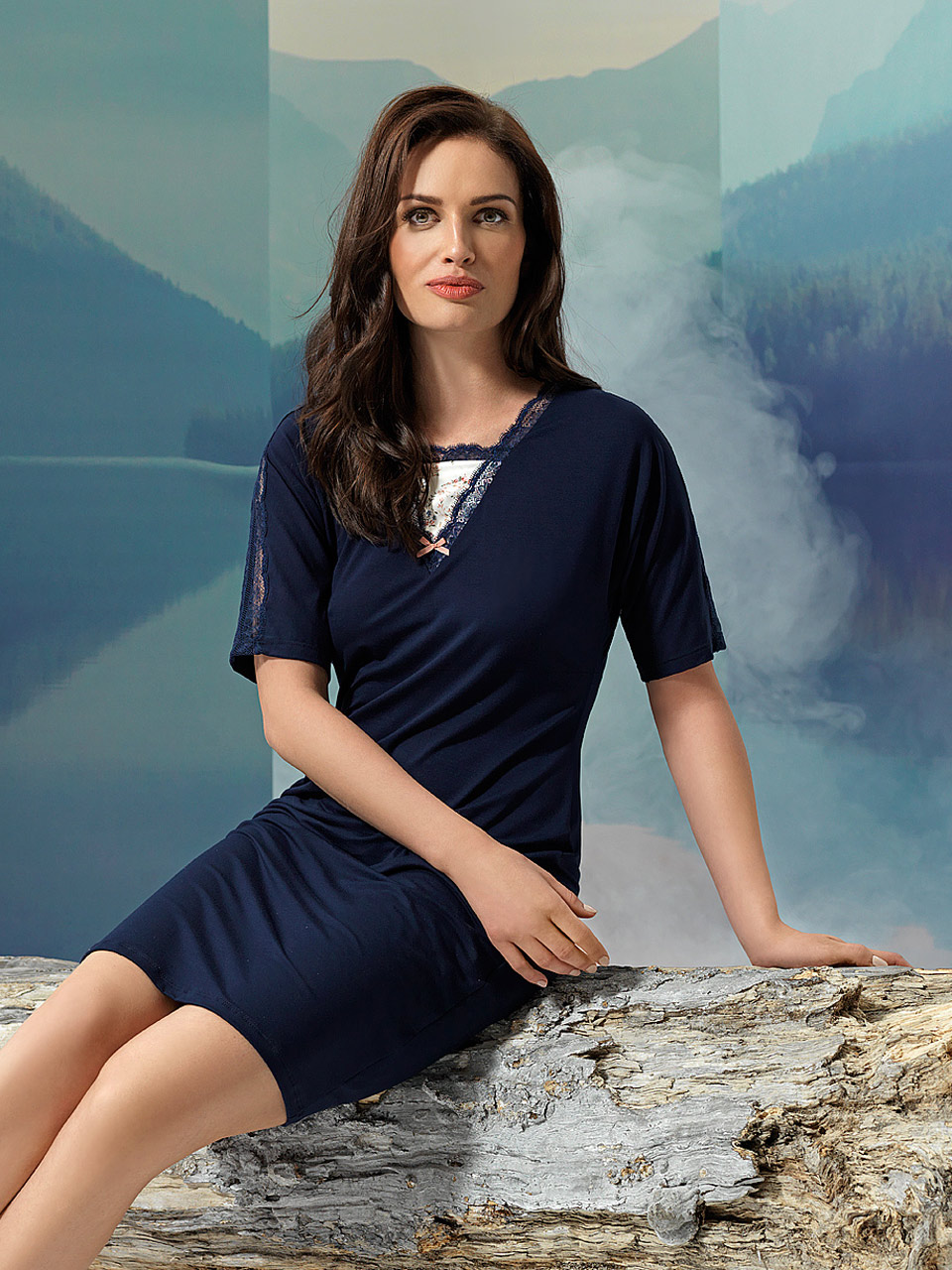 Sparkle 2945 Camicia da notte<br />03 Navy Blue, 55 Pearl