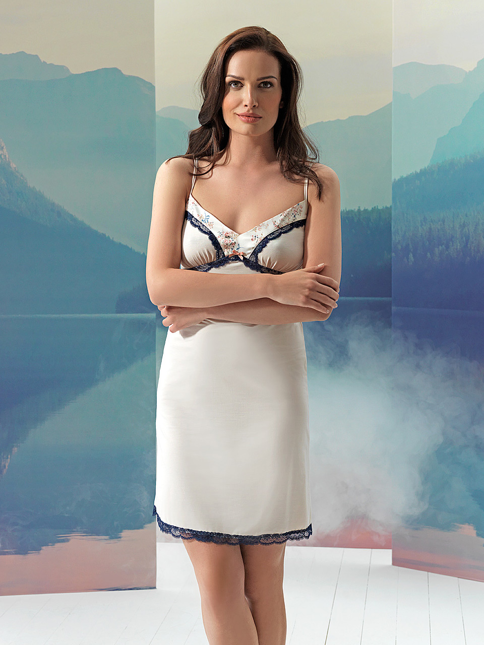 Sparkle 2946 Chemise<br />03 Navy Blue, 55 Pearl