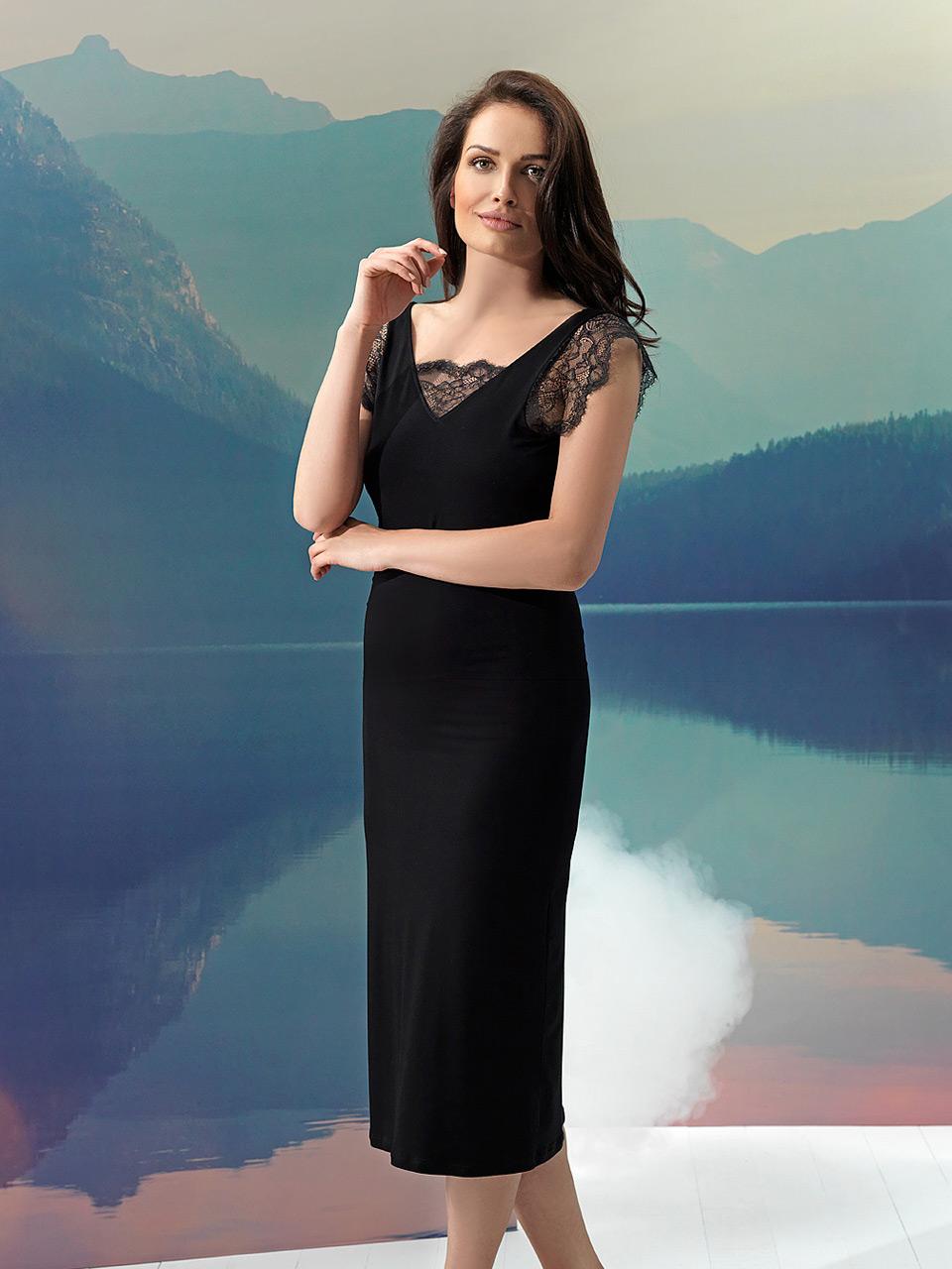 Luna 2966 Camicia da notte<br />10 Ivory, 02 Black, 10 Violet