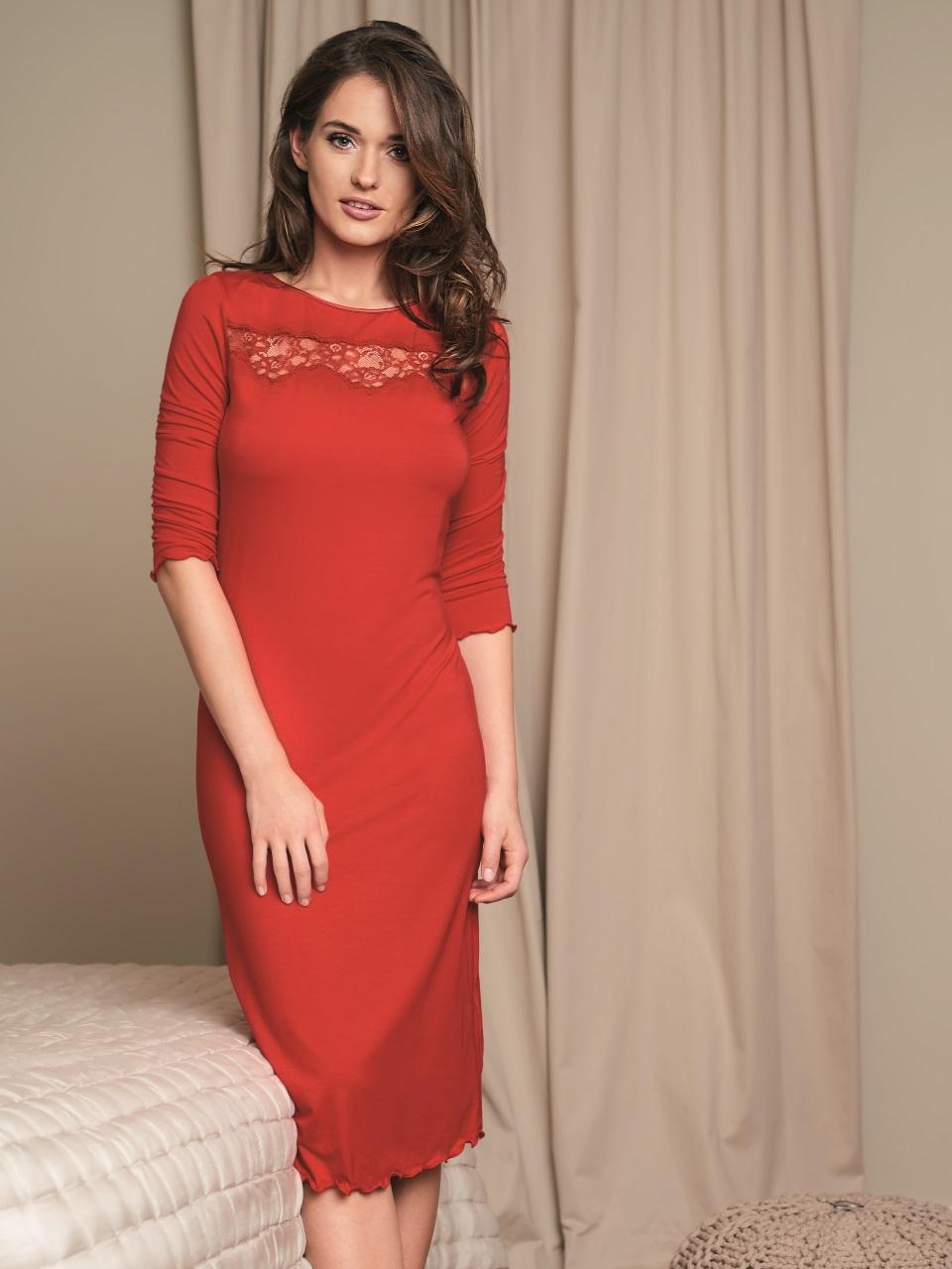 Valentina 3016 Camicia da notte<br />02 Black, 61 Red
