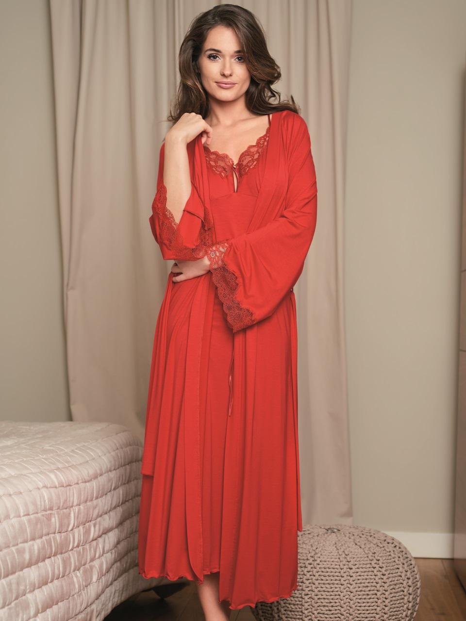Valentina 3018 Vestaglia<br />02 Black, 61 Red