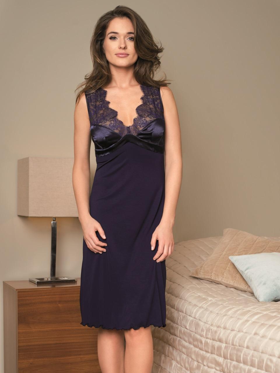 Lauren 3044 Camicia da notte<br />02 Black, 03 Navy Blue, 57 Aqua
