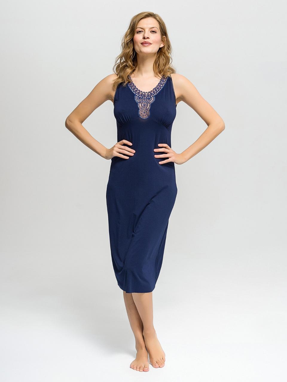 B36 Camicia da notte<br />03 Navy Blue, 63 Hyacinth