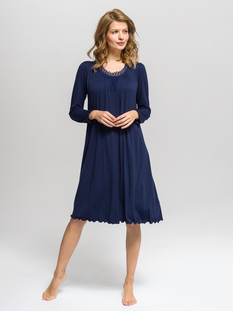 B37 Camicia da notte<br />03 Navy Blue, 63 Hyacinth