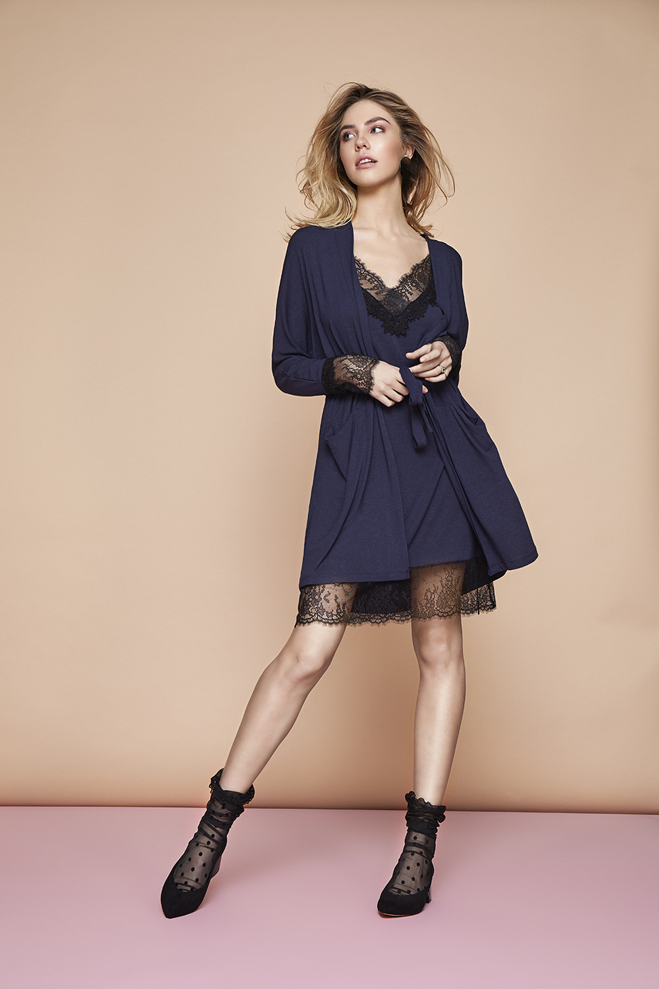 Night Moon OZ105 Chemise<br />03 Dark Blue, 15 Beige, 67 Antique Rose<br />Fire OZ107 Vestaglia<br />03 Dark Blue, 15 Beige, 67 Antique Rose