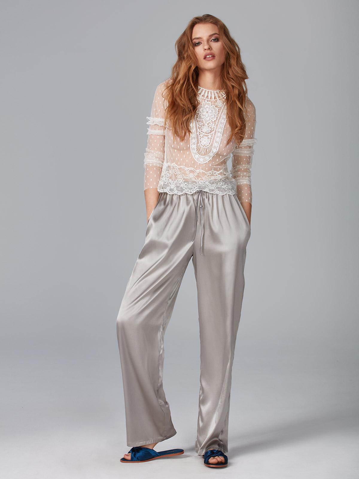 Dolce Vita OZ018 Maglia Ricamo<br />Simplicity OZ019 Pantalone Seta