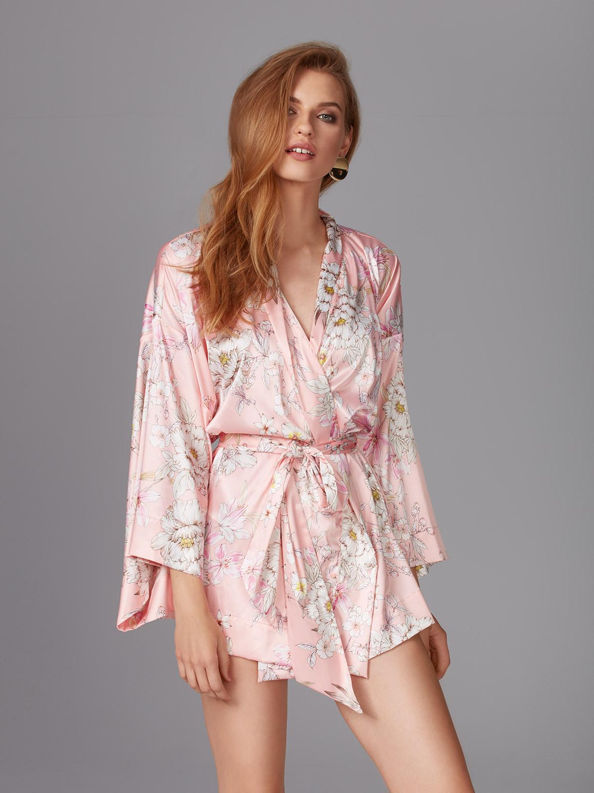 Good Mood OZ076 Kimono Stampa<br />04 Pink, 13 Blue
